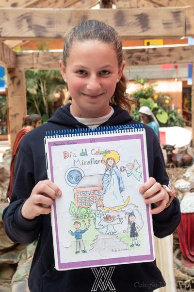 Ganadores dibujando a la Madre Trinidad